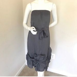 The Limited Gray Strapless Event Dress